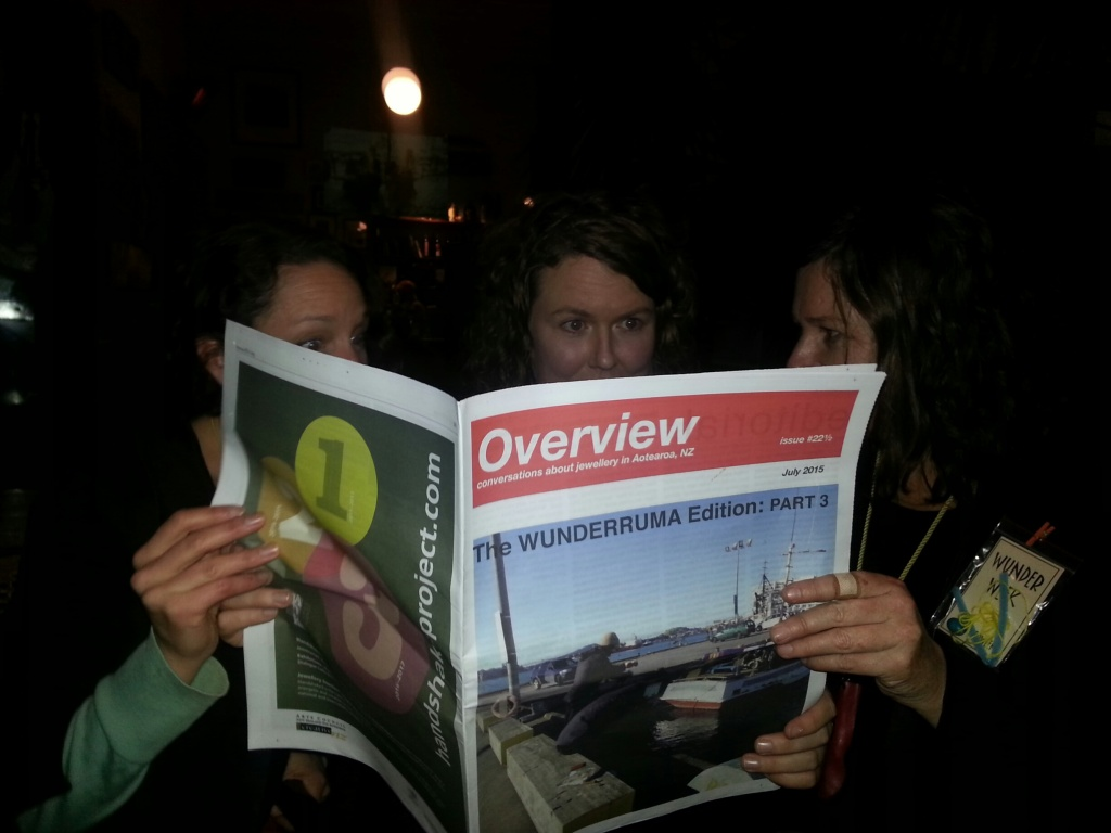 Kristin, Sharon and myself looking for typos